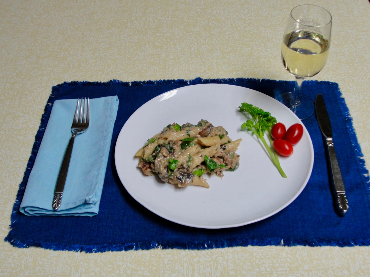 Mushroom, Spinach, and SausagePenne