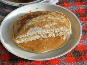 Butermilk Whole Wheat Pancakes cross section