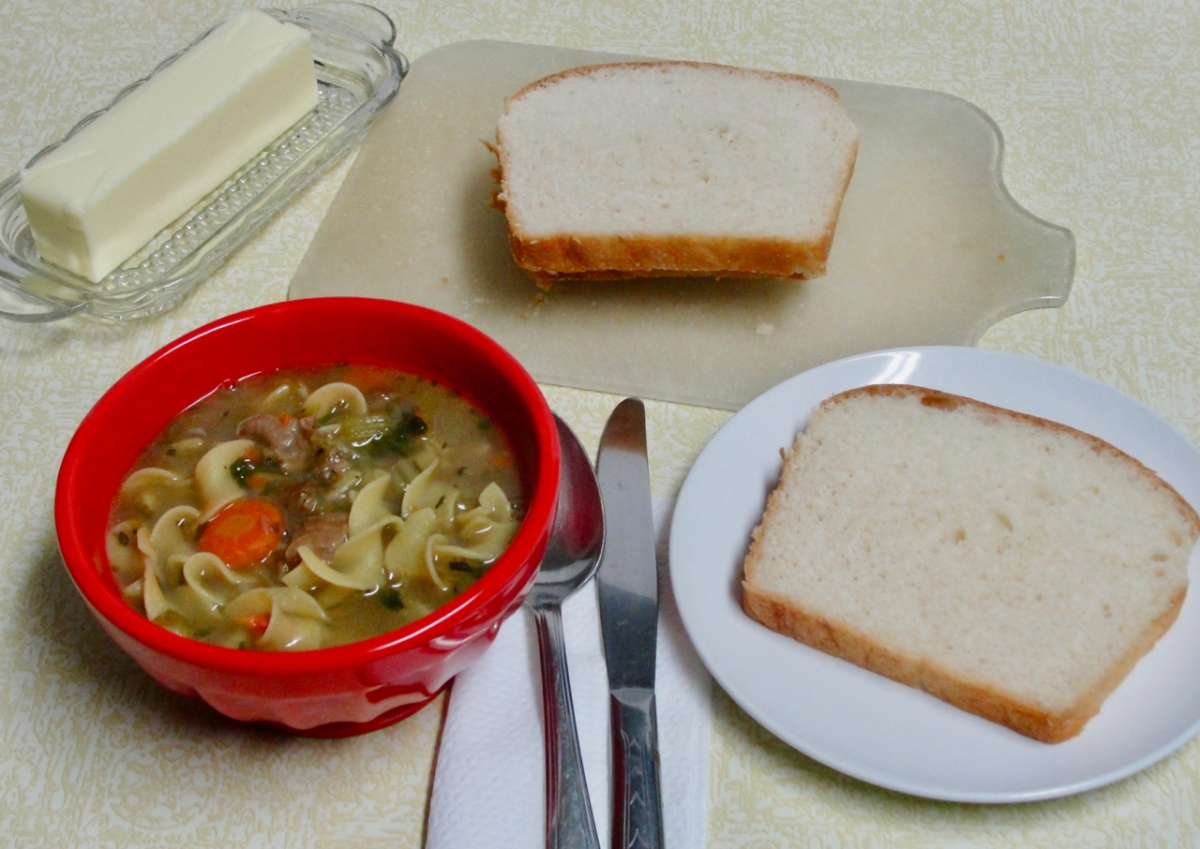Snowdrifts and Chicken Gizzard NoodleSoup