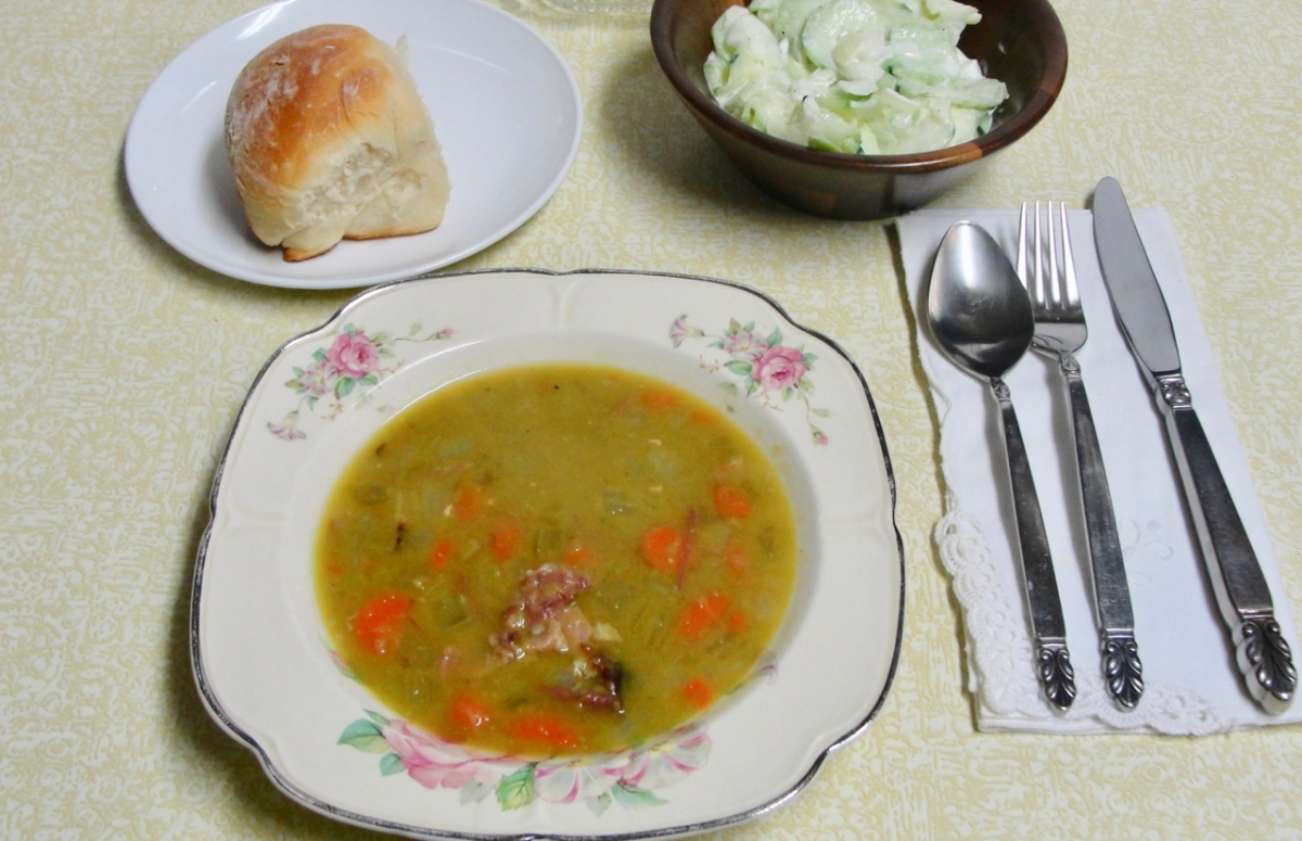 Mom's Split Pea Soup and Winter Memories