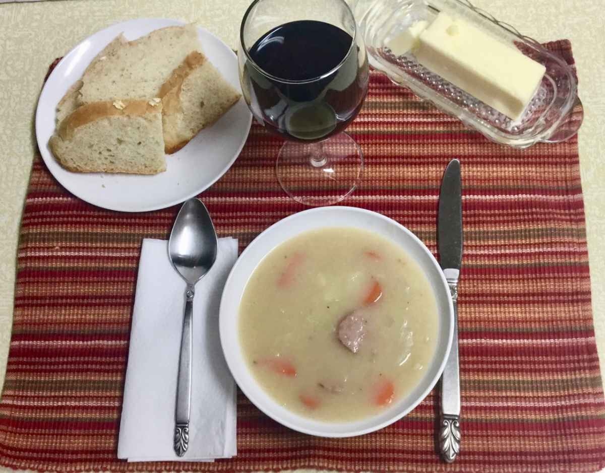 Winter Memories and French Cabbage Soup