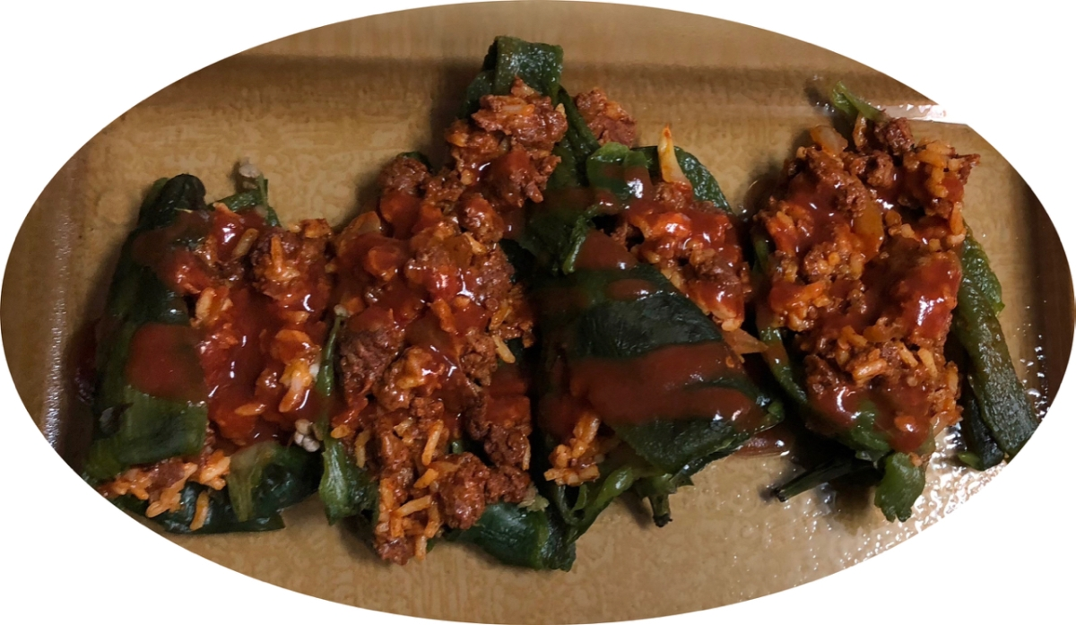 Chorizo-stuffed Poblano Peppers