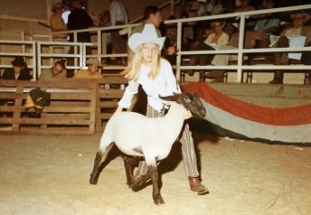 Lisa with lamb
