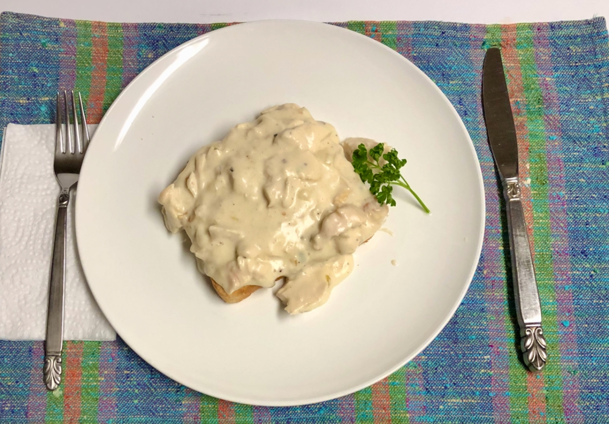 Easy Creamed Chicken