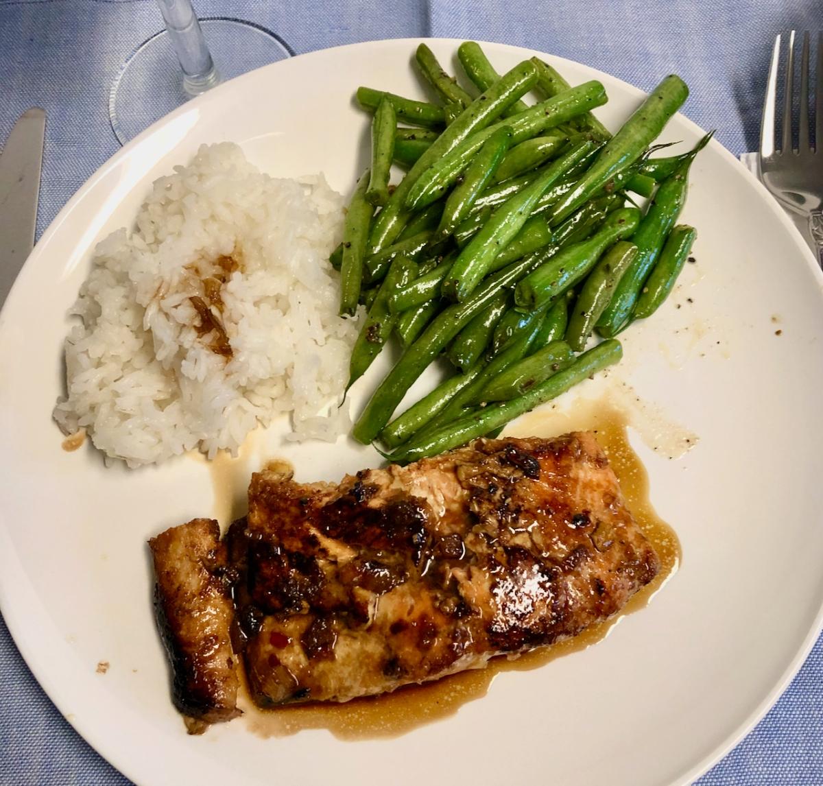Salmon with GingerMarmalade